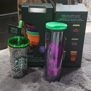 Starbucks bundle Halloween 2020 glow in dark cups